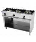 Cocina Industrial a Gas 3 Fuegos Fondo 550 Repagas