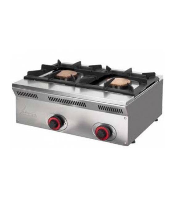 Cocina Sobremostrador a Gas 2 Fuegos ELE-62G Mainho