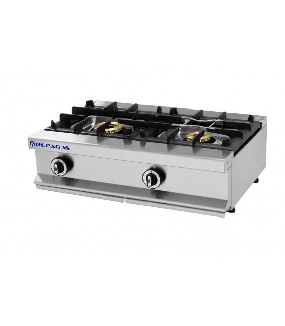 Cocina Sobremostrador a Gas 2 Fuegos Serie 550 Gama Modular Repagas