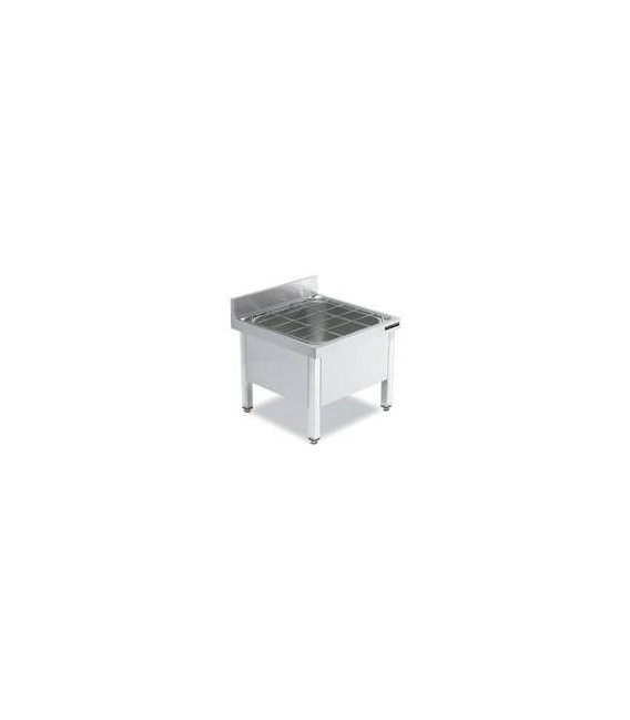 Fregadero Vertedero de Acero Inox 600x600 Distform