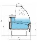 Vitrina Expositora Refrigerada Pastelería Cristal Curvo Serie Glacé VGL14C