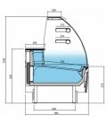 Vitrina Expositora Refrigerada Pastelería Cristal Curvo Serie Glacé VGL18C