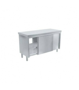 Mueble Neutro Central de Acero Inox con Puertas Correderas Pasantes Fondo 600 Distform