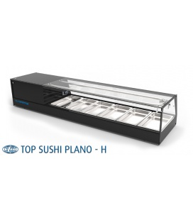 EXPOSITOR REFRIGERADO TOP PLANO SUSHI H6 GI 1523X405X290