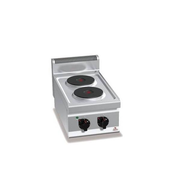 Cocina Sobremostrador Eléctrica 2 Fuegos Fondo 700 E7P2B Bertos
