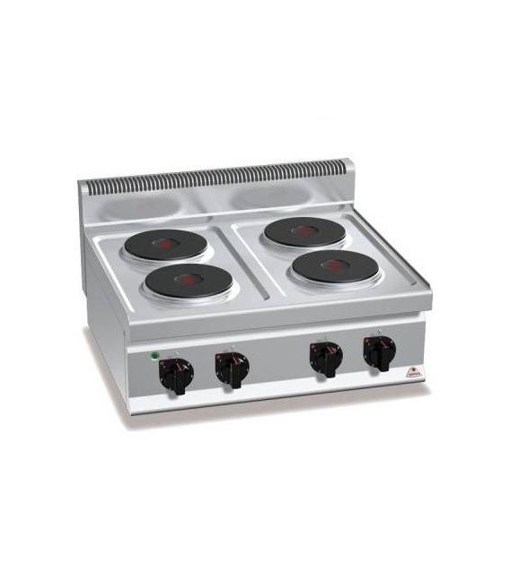 Cocina Sobremostrador Eléctrica 4 Fuegos Fondo 700 E7P4B Bertos