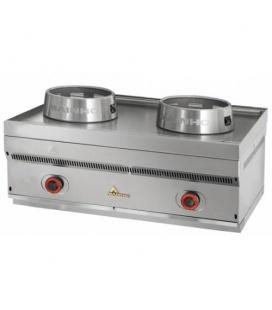 Cocina Wok Industrial Sobremostrador a Gas 2 Fuegos