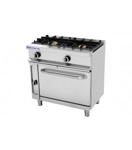 Cocina Industrial a Gas 2 Fuegos Horno y Gratinador Fondo 550 CG-521/G Repagas
