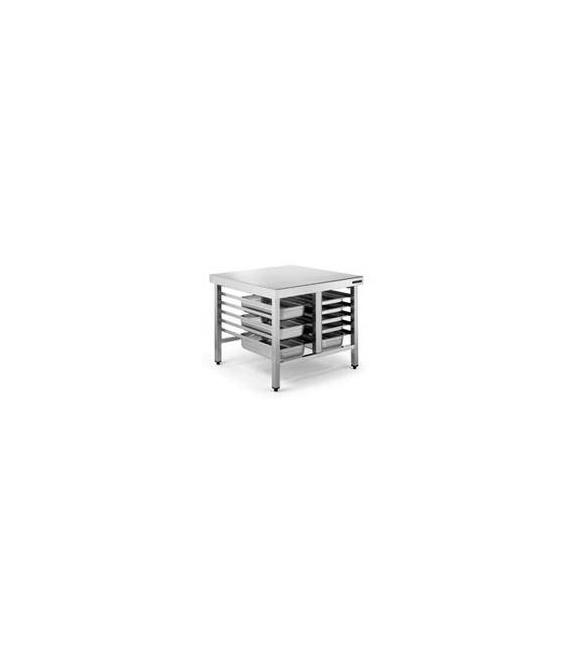 Mesa Soporte de Acero Inox Guías para Bandejas 600x400 Distform