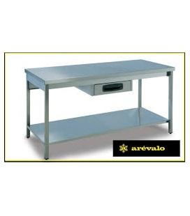 Mesa de Trabajo desmontable con cajón opcional en acero inox.